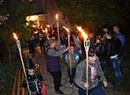 Факелно шествие за деня на Народните будители в село Доброславци
