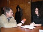 6 - Александра Илиева дава своето първо телевизионно интервю<br />за един от доайените на българската журналистика -<br />Владо Береану от БНТ